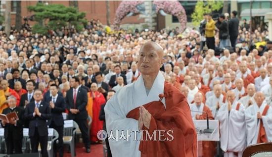 불교 조계종 제35대 총무원장 설정스님에 주목
