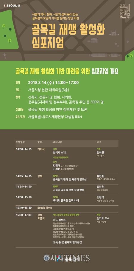 서울시, '골목길 재생 활성화 기반마련' 심포지엄 개최