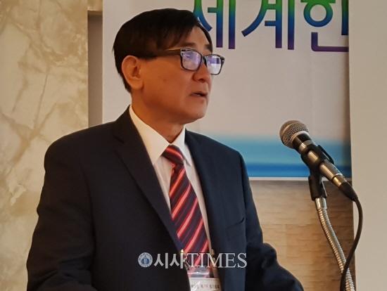 세계한인기독교이단대책연합회, 성명서 발표…총회 마지막날 김순관 회장이 발표