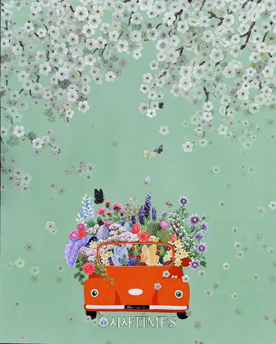 한국적이며 세계적 색채를 이끄는 곽연주 작가 '행복여행' 전시 열려