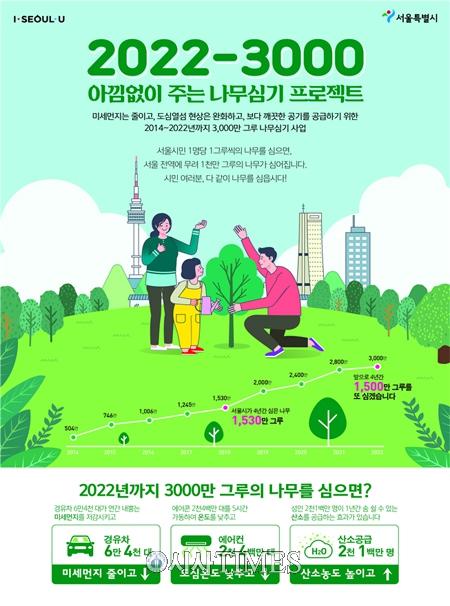 서울시, '아낌없이 주는 나무심기 프로젝트' BI‧슬로건 공모