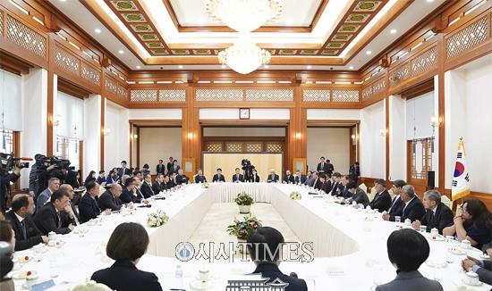 문재인 대통령, 아시아-태평양 통신사기구대표단 접견
