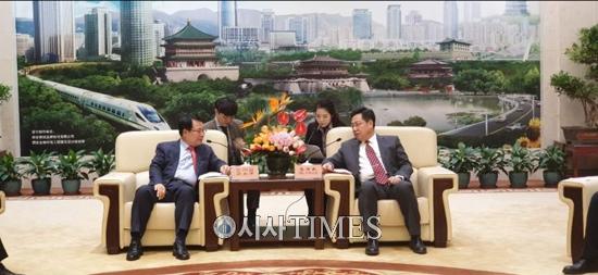 정헌율 시장, 중국 최고 고도 서안과 자매결연 추진