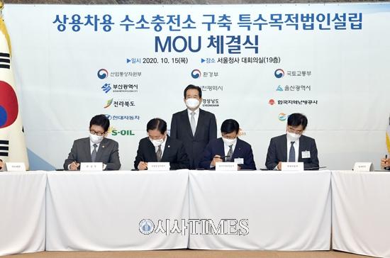 전북도, 상용차 수소충전소 특수목적법인 설립 위한 업무협약 체결
