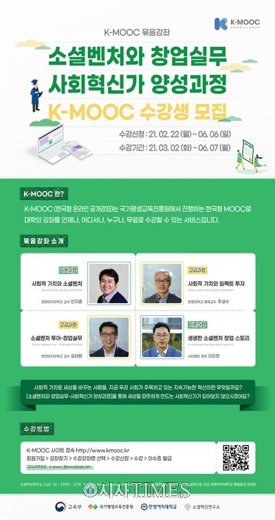 한양여자대학교, 'K-MOOC 소셜벤처 양성과정' 운영 시작